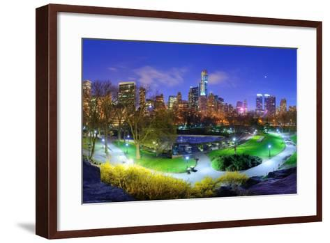 Central Park and Cityscape of New York City-SeanPavonePhoto-Framed Art Print