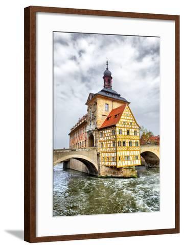 Town Hall on the Bridge, Bamberg, Germany-Zoom-zoom-Framed Art Print