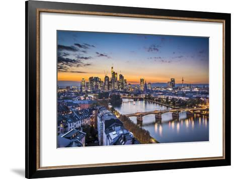 Skyline of Frankfurt, Germany, the Financial Center of the Country.-SeanPavonePhoto-Framed Art Print