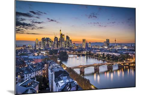 Skyline of Frankfurt, Germany, the Financial Center of the Country.-SeanPavonePhoto-Mounted Photographic Print