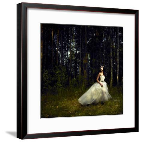 Romantic Girl in Fairy Forest-George Mayer-Framed Art Print