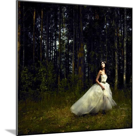 Romantic Girl in Fairy Forest-George Mayer-Mounted Photographic Print