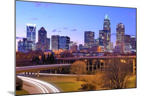 Skyline of Uptown, the Financial District of Charlotte, North Carolina.-SeanPavonePhoto-Mounted Photographic Print