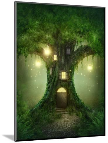 Fantasy Tree House in Forest-egal-Mounted Photographic Print