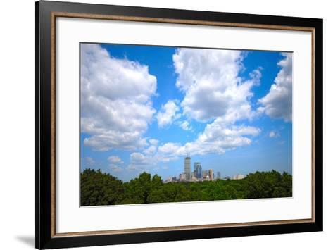 Boston Skyline Wide Angle-msymons-Framed Art Print