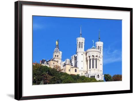 Basilica of Notre-Dame De Fourviere in Lyon-prochasson-Framed Art Print