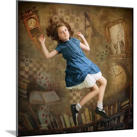 Alice falling down the Rabbit Hole-egal-Mounted Photographic Print