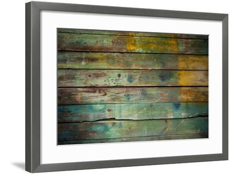 Wood Grungy Background-Arcady31-Framed Art Print