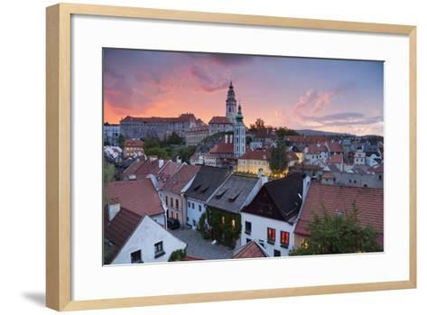 Cesky Kromlov, Czech Republic.-rudi1976-Framed Art Print