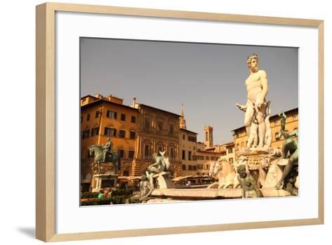 Fountain of Neptune in Florence.-Spectral-Design-Framed Art Print