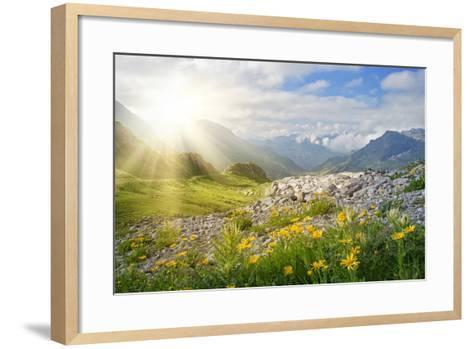 Mountains Landscape in Vorarlberg, Austria-egal-Framed Art Print