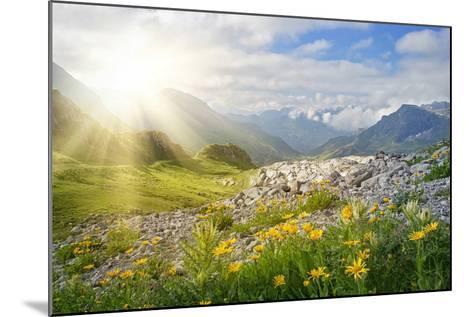 Mountains Landscape in Vorarlberg, Austria-egal-Mounted Photographic Print