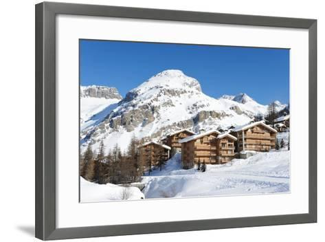 Mountain Ski Resort with Snow in Winter, Val-D'isere, Alps, France-haveseen-Framed Art Print