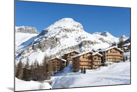 Mountain Ski Resort with Snow in Winter, Val-D'isere, Alps, France-haveseen-Mounted Photographic Print