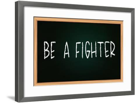 Be a Fighter-airdone-Framed Art Print