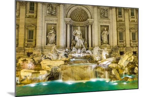 Neptune Statue of the Trevi Fountain in Rome Italy-David Ionut-Mounted Photographic Print
