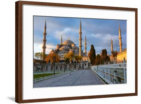 Blue Mosque, Istambul into Sunrise Lights-David Ionut-Framed Art Print