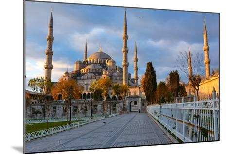 Blue Mosque, Istambul into Sunrise Lights-David Ionut-Mounted Photographic Print