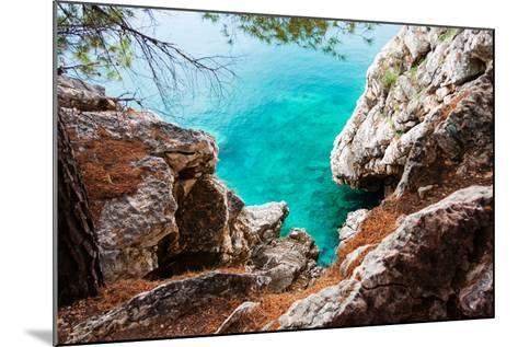 Blue Sea and Rocks-Lamarinx-Mounted Photographic Print