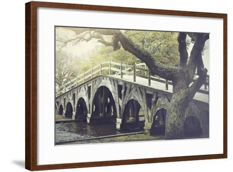 The Footbridge in Corolla, North Carolina is on the National Register of Historic Places.-pdb1-Framed Art Print