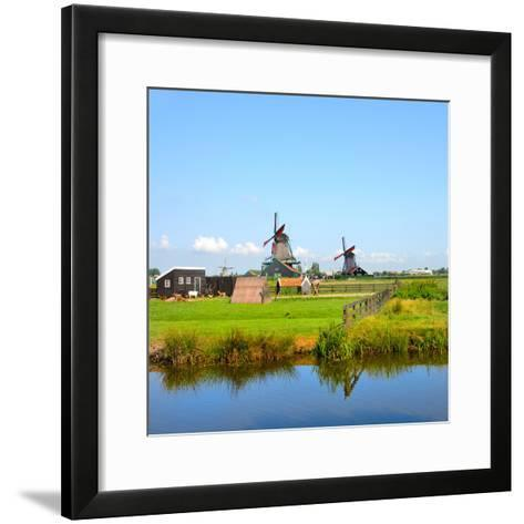 Windmill Amsterdam-Graphicstockphoto-Framed Art Print