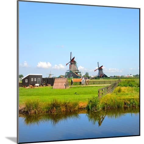 Windmill Amsterdam-Graphicstockphoto-Mounted Photographic Print