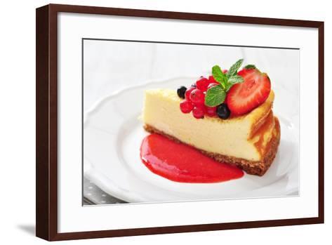 Cheesecake with Fresh Berries-tashka2000-Framed Art Print