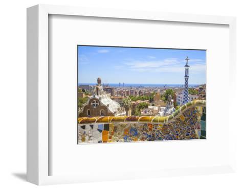 Park Guell in Barcelona-lorenzobovi-Framed Art Print