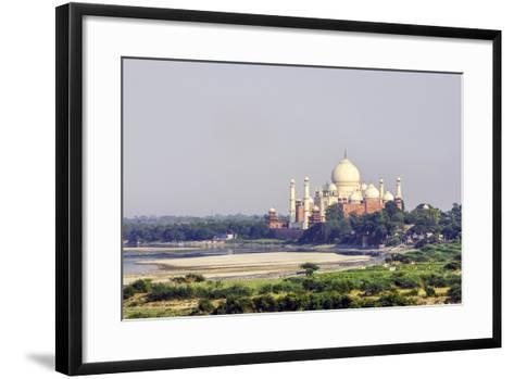 Taj Mahal in Agra-Jorg Hackemann-Framed Art Print