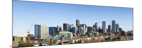 Denver Colorado City Skyline from West Side of Town. Snow Covered Ground Winter.-Ambient Ideas-Mounted Photographic Print