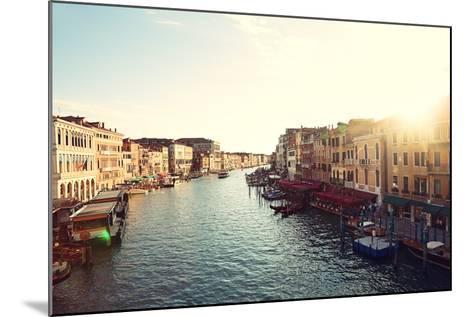 Grand Canal, Venice, Italy, Called Canal Grande in Italian, as Seen from Rialto Bridge. Beautiful V-Maridav-Mounted Photographic Print