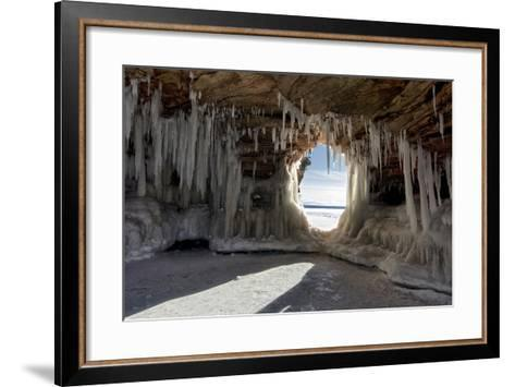 Apostle Islands Ice Caves on Frozen Lake Superior, Wisconsin-PhotoImages-Framed Art Print