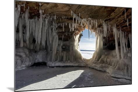 Apostle Islands Ice Caves on Frozen Lake Superior, Wisconsin-PhotoImages-Mounted Photographic Print