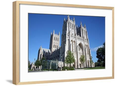 National Cathedral in Washington DC at Sunset-Dan Beards-Framed Art Print