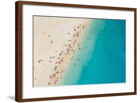 Top View of Beautiful Dreamy Beach-Jag_cz-Framed Art Print
