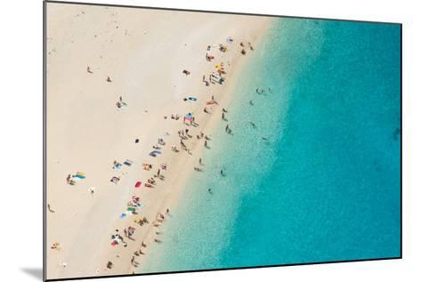 Top View of Beautiful Dreamy Beach-Jag_cz-Mounted Photographic Print
