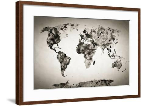 Watercolor world map black and white paint on paper retro style watercolor world map black and white paint on paper retro style hd quality gumiabroncs Gallery