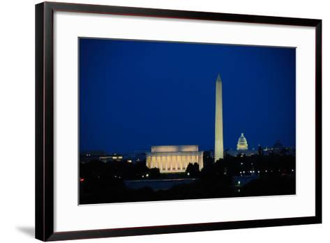 Washington DC Skyline-Matthew Carroll-Framed Art Print