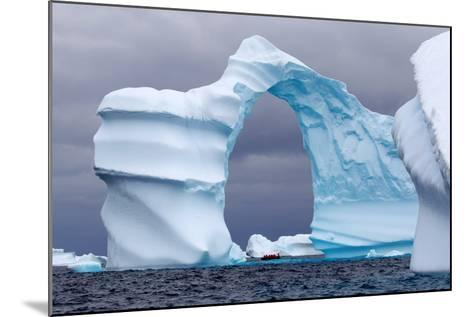 Huge Arch Shaped Iceberg in Antarctica-slew11-Mounted Photographic Print