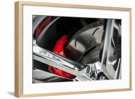 Super Car Brakes-duallogic-Framed Art Print