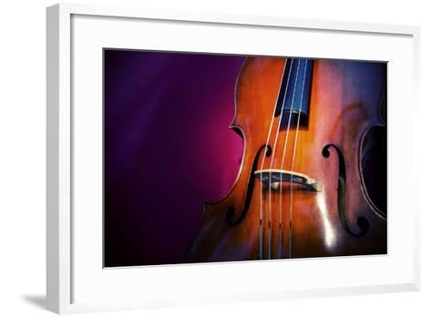 Double Bass-lachris77-Framed Art Print