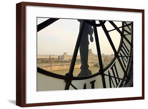 Clock-fotomem-Framed Art Print