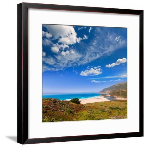 California Beach in Big Sur in Monterey Pacific Highway along State Route 1 US-holbox-Framed Art Print