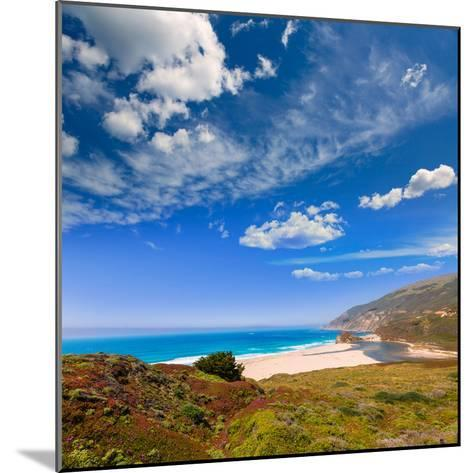 California Beach in Big Sur in Monterey Pacific Highway along State Route 1 US-holbox-Mounted Photographic Print