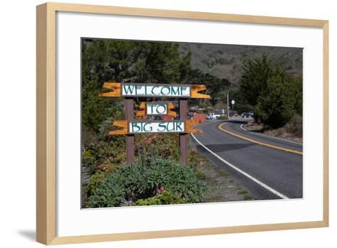 Big Sur Signage-FiledIMAGE-Framed Art Print