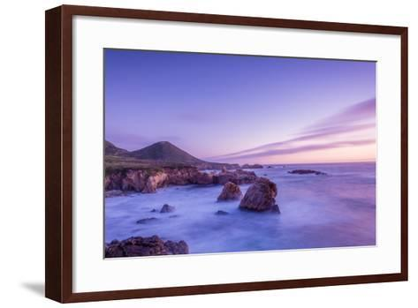 California Beach Sunset-rebelml-Framed Art Print