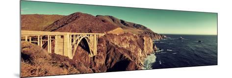 Bixby Bridge Panorama as the Famous Landmark in Big Sur California.-Songquan Deng-Mounted Photographic Print