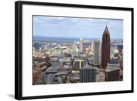 Aerial View of Atlanta, Georgia-bren64-Framed Art Print