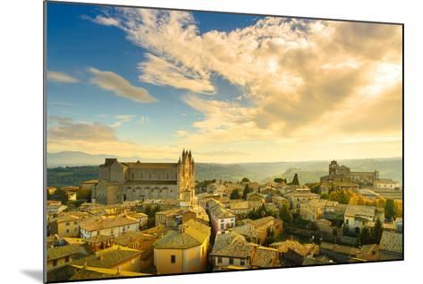 Orvieto Medieval Town and Duomo Cathedral Church Aerial View. Italy-stevanzz-Mounted Photographic Print