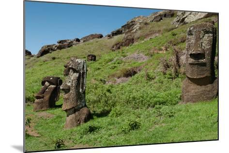 Statues on Isla De Pascua. Rapa Nui. Easter Island-Vladimir Krupenkin-Mounted Photographic Print